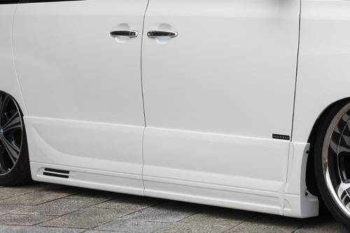 サイドステップ【エクスクルージブ ゼウス】アルファード 【 EXE LINE 】 サイドステップ&サイドパネル 未塗装品 | ALPHARD(GGH/ANH) MC前 2008/5 - 2011/10