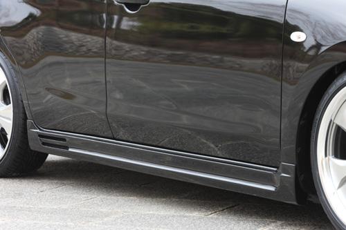 サイドステップ【エクスクルージブ ゼウス】マーチ 【 SMART LINE 】 サイドステップ QX1塗装済   MARCH(K13) 前期 2010/7 - 2013/7
