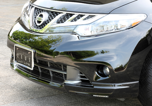 フロントハーフ【エクスクルージブ ゼウス】ムラーノ 【 LUV LINE 】 フロントハーフスポイラー(LED付属) 未塗装 | MURANO(Z51) MC後 2011/3 -