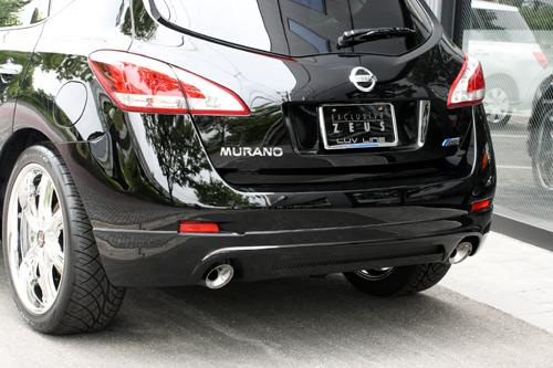 リアバンパーカバー / リアハーフ【エクスクルージブ ゼウス】ムラーノ 【 LUV LINE 】 リアアンダースポイラー QX1 塗装済 | MURANO(Z51) 後期 2011/3 -
