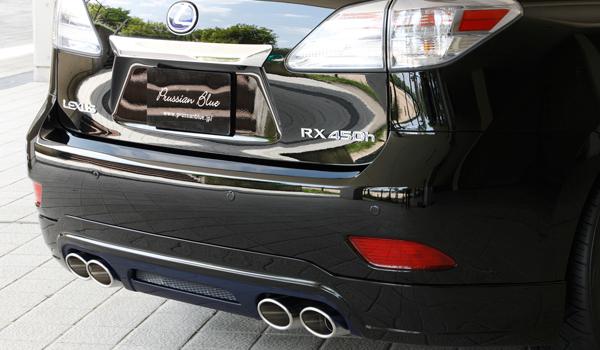 リアバンパーカバー / リアハーフ【エクスクルージブ ゼウス】レクサス 【 LUV LINE 】 リアアンダースポイラー 212塗装済 | LEXUS RX RX450h (GYL1#W) 前期 2009/4 - 2012/3