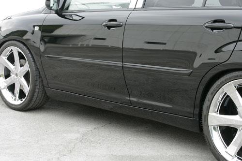 HYBRID サイドステップ LUV HARRIER | 2005/3 サイドステップ【エクスクルージブ LINE 【 ゼウス】ハリアーハイブリット 2012/8 未塗装品 - (MHU38W) 】