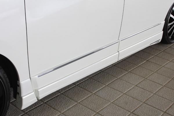サイドステップ【エクスクルージブ ゼウス】GRACE LINE サイドステップ 未塗装品 エルグランド E52 ハイウェイスター 後期 2014/4-