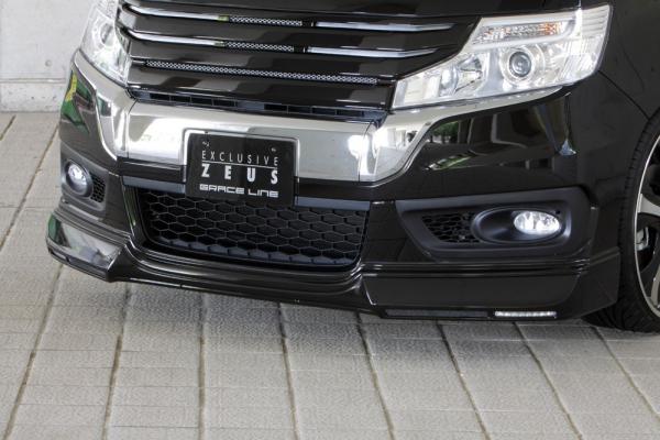 フロントハーフ【エクスクルージブ ゼウス】ステップワゴン 【 GRACE LINE 】 フロントハーフスポイラー(LED付属) NH812P塗装済 | STEP WGN (RK5.6) SPADA 後期 2012/4 - 2015/3