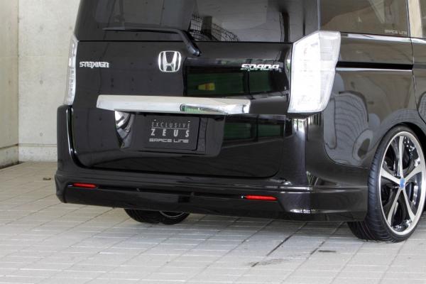 リアバンパーカバー / リアハーフ【エクスクルージブ ゼウス】ステップワゴン 【 GRACE LINE 】 リアアンダースポイラー NH812P塗装済品   STEP WGN (RK5.6) SPADA MC後 2012/4 - 2015/3
