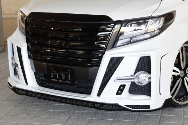 フロントハーフ【エクスクルージブ ゼウス】アルファード 【 GRACE LINE 】 フロントスポイラー(LED付属) 2色塗り分け塗装済   ALPHARD (GGH/AGH/AYH) SA/S grade HYBRID SR 2015/1 -