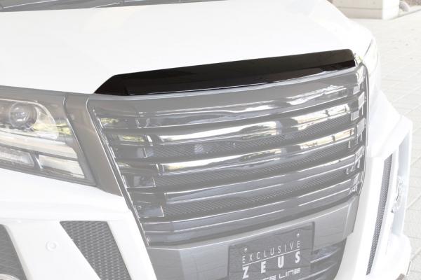 ボンネットリップ / フードトップモール【エクスクルージブ ゼウス】アルファード 【 GRACE LINE 】 フードトップモール 070塗装済   ALPHARD (GGH/AGH/AYH) SA/S grade HYBRID SR 2015/1 -