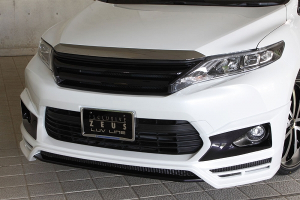 フロントハーフ【エクスクルージブ ゼウス】ハリアー 【 LUV LINE 】 フロントハーフスポイラー(LED付属) 202 塗装済   HARRIER(ZSU60/65) / HYBRID(AVU65W) 2013/12 -