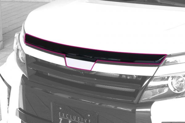 ボンネットリップ / フードトップモール【エクスクルージブ ゼウス】GRACE LINE フードトップモール 2色塗り分け塗装済 ヴォクシー ZRR80W ZS grade 2014/1- ZWR80W HYBRID ZS 2016/1-