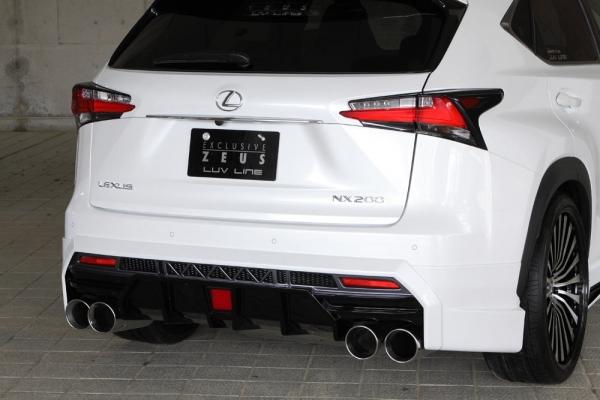 リアバンパーカバー リアハーフ エクスクルージブ ゼウス レクサス LUV LINE リアアンダースポイラー 2色塗り分け済み LEXUS NX NX200t AGZ1# NX300h AYZ1# 2014 7 -
