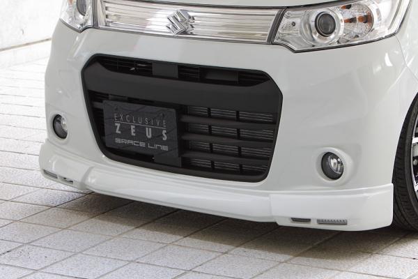 フロントハーフ【エクスクルージブ ゼウス】ワゴンR スティングレー 【 GRACE LINE 】 フロントハーフスポイラー(LED付属) Z7T塗装済 | WAGON R STINGRAY(MH34S) 2013/7 - 2014/7