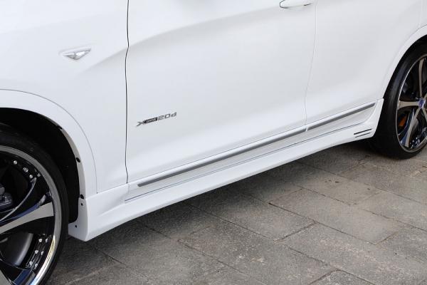 サイドステップ【エクスクルージブ ゼウス】BMW X3 【 LUV LINE 】 サイドステップ 未塗装品 | BMW X3 X3 xDrive20i(DBA-WX20) X3 xDrive20d BluePerformance(LDA-WY20) X3 xDrive28i(DBA-WX20) X3 xDrive35i(DBA-WX35) (M Sportパッケジ付き車除く) 2012/9 - 201