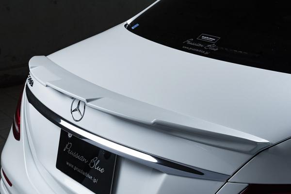 トランクスポイラー / リアリップスポイラー【エクスクルージブ ゼウス】メルセデスベンツ 【 Prussian Blue 】 トランクスポイラー 未塗装品 | Mercedes Benz E-Class W213 E200/E220d/E250 AVANTGARDE Sports 2016/7 -