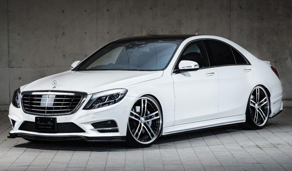 エアロ 3点キットC / ( FRハーフタイプ )【エクスクルージブ ゼウス】メルセデスベンツ 【 Prussian Blue 】 3点KIT(F、,S、R) 未塗装品 | Mercedes Benz S-Class W222 S300h(long除く) AMG Line 2013/10 -