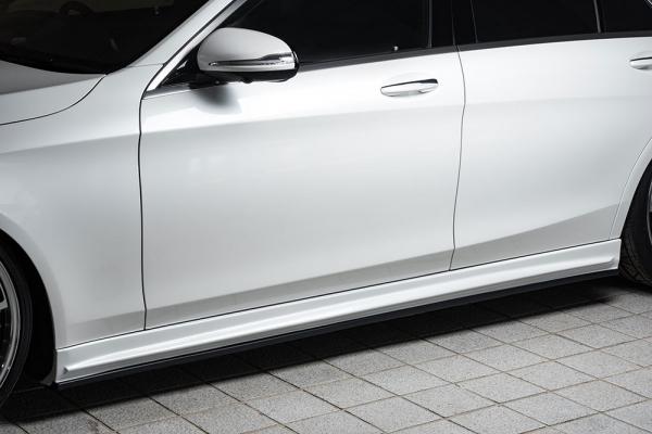 サイドステップ【エクスクルージブ ゼウス】メルセデスベンツ 【 Prussian Blue 】 サイドステップ 未塗装品 | Mercedes Benz S-Class W222 S300h(long除く) AMG Line 2013/10 -