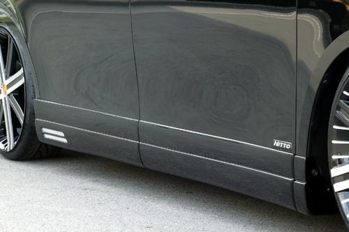 サイドステップ【エクスクルージブ ゼウス】ヴォクシー 【 GRACE LINE 】 サイドステップ 070 塗装済 | VOXY (ZRR) V/X/TRANS-X grade 前期 2007/6 - 2010/3