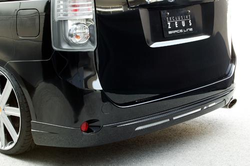 リアバンパーカバー / リアハーフ【エクスクルージブ ゼウス】GRACE LINE リアアンダースポイラー 未塗装品 ヴォクシー ZRR V/X/TRANS-X grade 前期 2007/6 - 2010/3