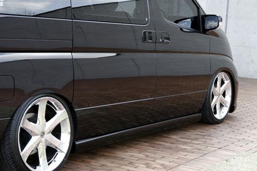 サイドステップ【エクスクルージブ ゼウス】GRACE LINE サイドステップ QX1塗装済 エルグランド E51 XL/X/VG/V 後期 2004/8-2010/7