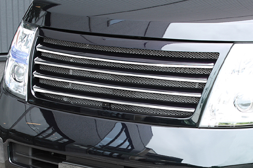 フロントグリル【エクスクルージブ ゼウス】GRACE LINE フロントグリル 未塗装品 エルグランド E51 XL/X/VG/V 後期 2004/8-2010/7