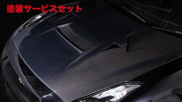★色番号塗装発送GT-R R35 | ボンネット ( フード )【バリス】NISSAN R35 GT-R COOLING BONNET (センターダクトカバー付) VSDCカーボン製法(アウター&インナー:オールカーボン製)
