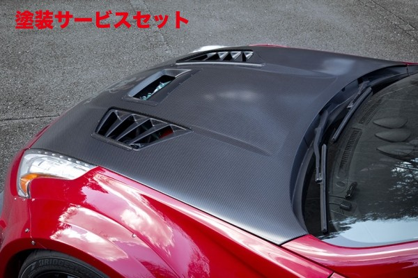 ★色番号塗装発送Z34 | ボンネットダクト【バリス】Z34 370Z WIDE BODY KIT KAMIKAZE Z VARIS B/H用 CENTER LOOVER DUCT + SIDE DUCT FIN SET  CARBON