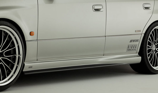161 アリスト | サイドステップ【バリス】RIDOX JZS16# ARISTO (VARIS製)SIDE SKIRT  アンダーリップ部カーボン (UNDER LIP CARBON)