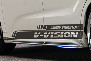汎用 | ステッカー【ブイビジョン】オリジナルサイドデカールタイプ2 左右セット ラメバージョン【軽自動車サイズ】 パープル