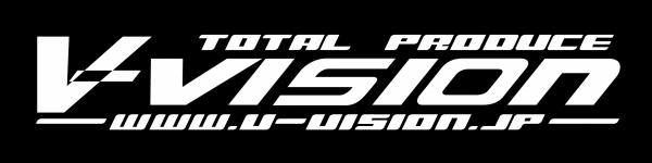 汎用 グッズ/アクセサリー | ステッカー【ブイビジョン】V-VISION 旧ロゴフロントステッカー ホワイト