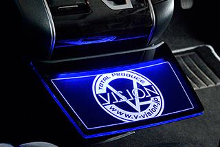 フロントテーブル【ブイビジョン】アルファード・ヴェルファイア30系 LEDフロントセンターテーブル ブルー