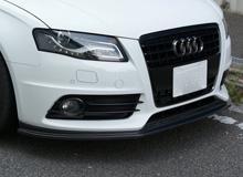 【関西、関東限定】取付サービス品Audi A4 B8 | フロントリップ【バランスイット】AUDI S4/A4 S-line Front lip spoiler FRP