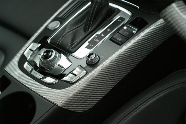 Audi A5   インテリアパネル【バランスイット】Audi A5(8T) coupe/sportback カーボンインテリアキット センターコンソールのみ(シルバーカーボン)