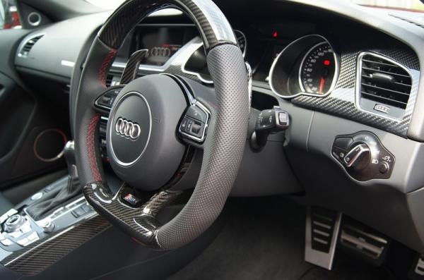 Audi A5   インテリアパネル【バランスイット】Audi A5(8T) coupe/sportback カーボンインテリアキット 3点キット(シルバーカーボン)