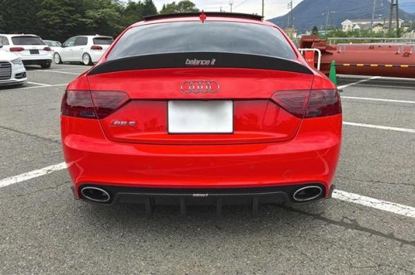 Audi A5 | トランクスポイラー / リアリップスポイラー【バランスイット】AUDI RS5 2010- Duck Tail FRP