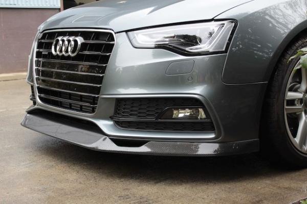Audi A5   フロントリップ【バランスイット】AUDI S5/A5 S-Line 後期 (2012~)フロントリップスポイラー カーボン