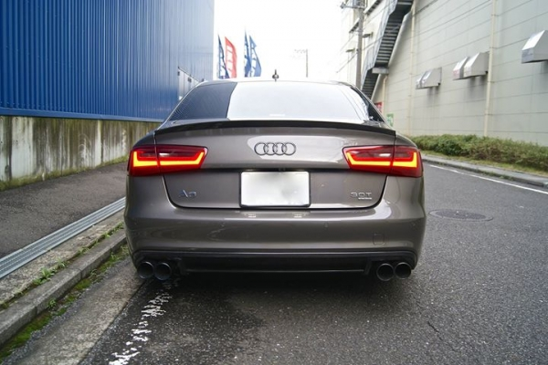 Audi A6 C7 | リアアンダー / ディフューザー【バランスイット】Audi S6/A6 S-line 2011-2014 rear diffuser FRP製