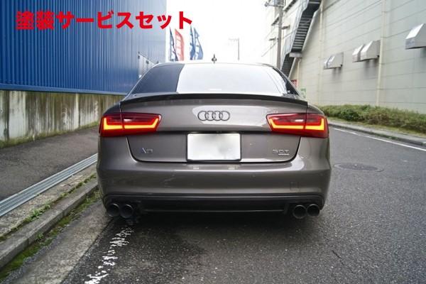 ★色番号塗装発送Audi A6 C7 | リアアンダー / ディフューザー【バランスイット】Audi S6/A6 S-line 2011-2014 rear diffuser FRP製