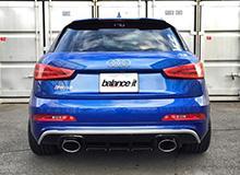 Audi A7 Sportback | リアバンパーカバー / リアハーフ【バランスイット】AUDI RSQ3/Q3 Rear Half Bumper Spoiler Carbon