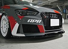【関西、関東限定】取付サービス品アウディ A3 8V | フロントリップ【バランスイット】AUDI RS3 Front Lip Spoiler FRP