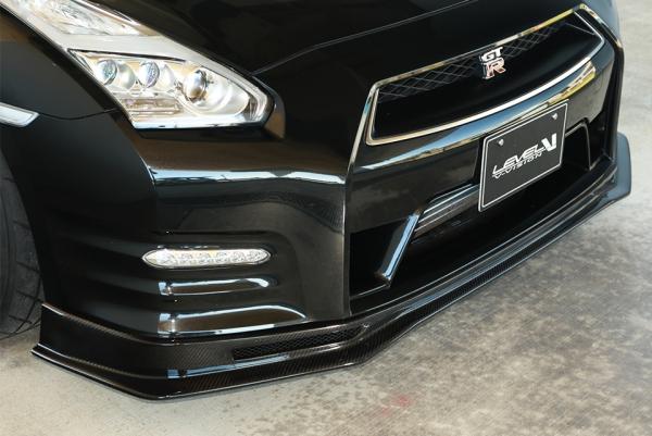 フロントリップ【ブイビジョン】R35 GTR フロントリップスポイラー カーボンタイプ