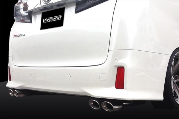ステンマフラー【ブイビジョン】アルファード・ヴェルファイア30系 車検対応 マフラー左右2本出し (117×80オーバル×4)