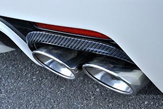 ステンマフラー【ブイビジョン】V-VISION 純正バンパー対応マフラー フーガ50系(リア・オーバル小×4)