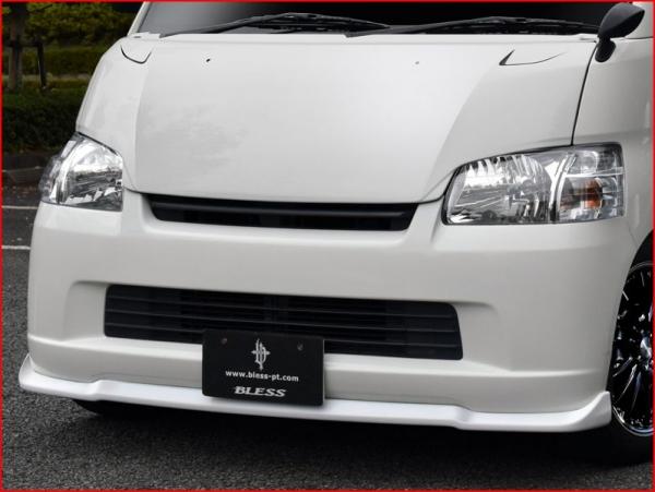 S402 タウンエースバン / ライトエースバン | フロントリップ【ブレス】タウンエース・ライトエース S402系 フロントリップスポイラー 未塗装FRP白ゲルコート品