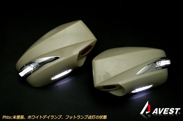 【アベスト】[鮮烈ライトバー][TYPE2] 86 ZN6/BRZ ZC6 LSデザインドアミラーウィンカー デイランプ付 [カラーコード][C7P]ライトニングレッド [デイランプ]ホワイト