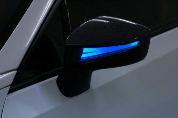【アベスト】[鮮烈ライトバー][TYPE1]86 ZN6/BRZ ZC6 ドアミラーウィンカー デイランプ付 インナーカーボン 塗装済 [デイランプ]ホワイト [カラーコード][61K]ダークグレーメタリック