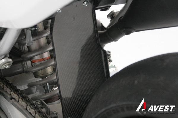 【アベスト】CRF250L/CRF250M カーボン ガードフラップ(リアの泥除け) マッドガード