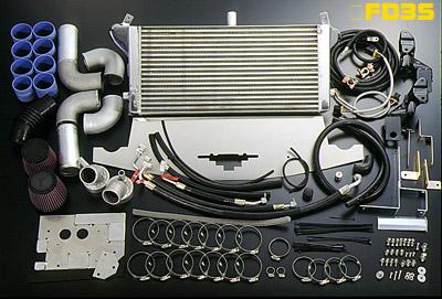 FD3S RX-7 | インタークーラー【ボーダー】RX-7 FD3S Ride HightインタークーラーKIT 3層 エアークリーナーレス・ノーマルタービン用