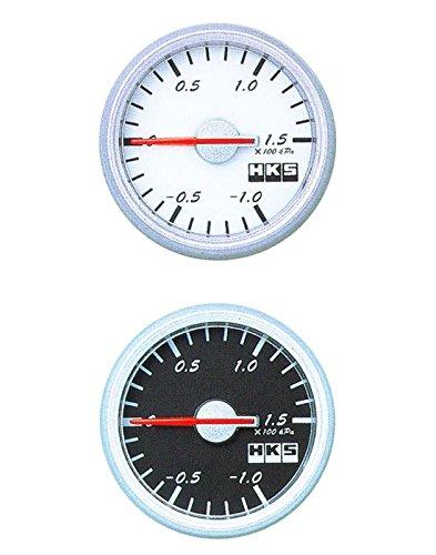 【エッチケーエス】HKS φ60ダイレクトブライトメーター ブースト計 (φ4ホース長/2.0m) -1.0 - 2.1(X100kPa) White Panel / Black Scale