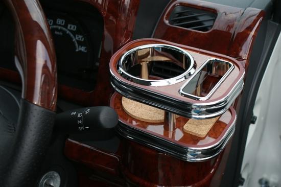 【ハロースペシャル】500系 フロント運転席側カップホルダー茶ウッド調