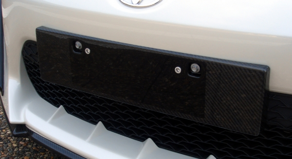 86 - ハチロク -   ナンバーベース【エルエックスモード】86 ZN6 LXカーボンフロントユーロライセンスベース