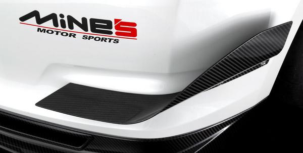 GT-R R35 | フロントカナード【マインズ】R35 GT-R ドライカーボンカナード クリア塗装